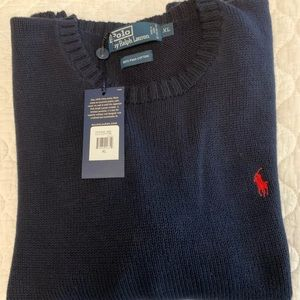 Polo Sweater XL - new with tags - Navy